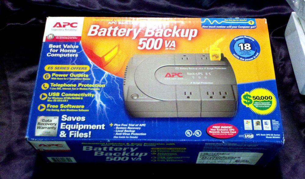 Need An Uninterrupted Power Supply Got Electronics Pcs Apc Back Ups 500va Battery Backup Surge Protector For Parts Repair Power Su Battery Backup Repair Apc