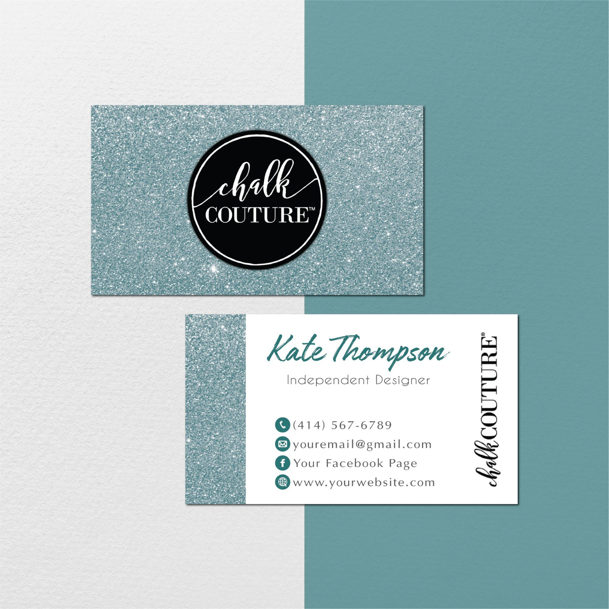 Chalk Couture Business Cards Personalized Chalk Couture Template Cc01 Business Card Size Personal Cards Cards
