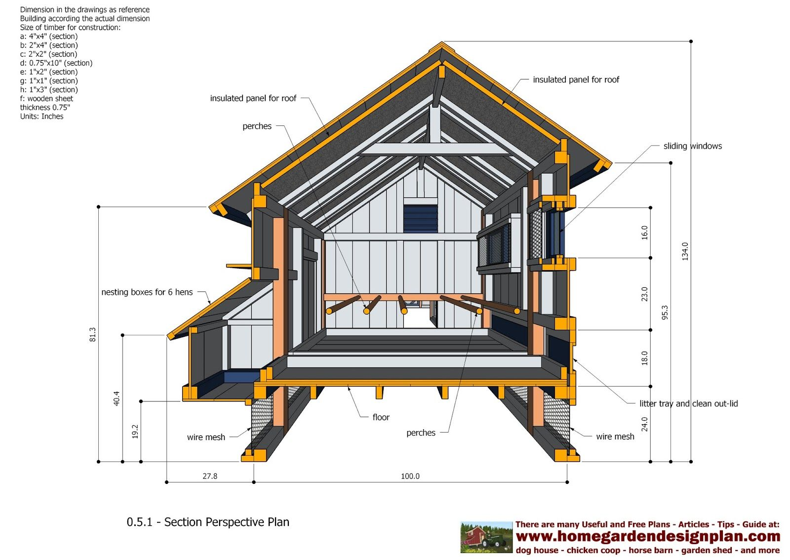 Home garden plans l200 large chicken coop plans how for Build a house online
