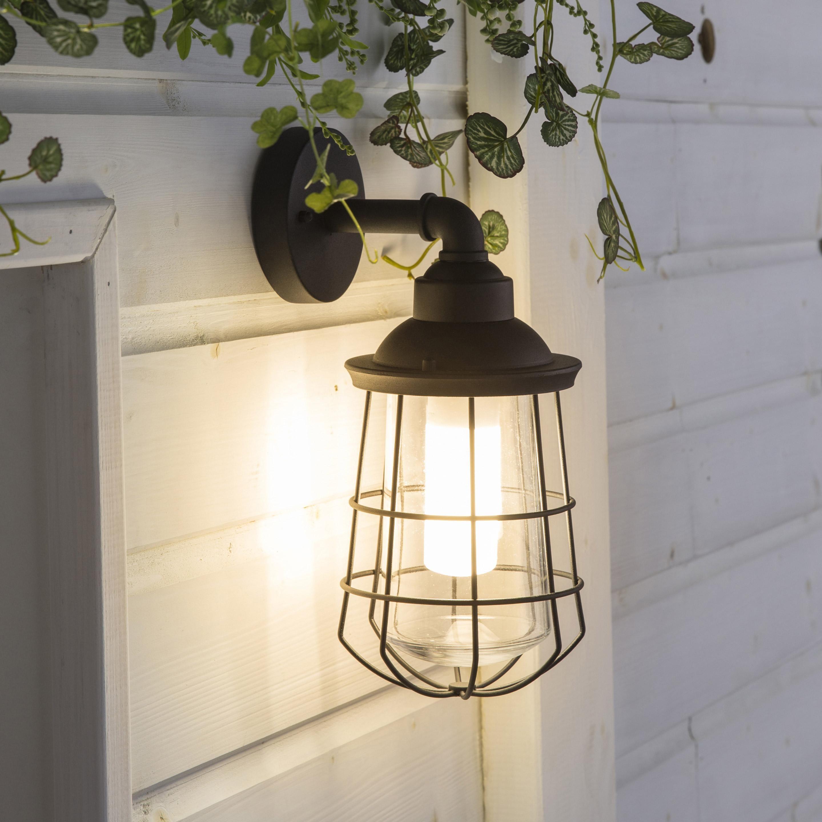 Applique Exterieure E27 Max 60w Noir Ikitos Inspire Applique Exterieur Luminaire Exterieur Lampe Murale Exterieur