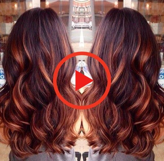 Dark Auburn Hair Color with Caramel Highlights #beautifulredhair #auburnhairdark