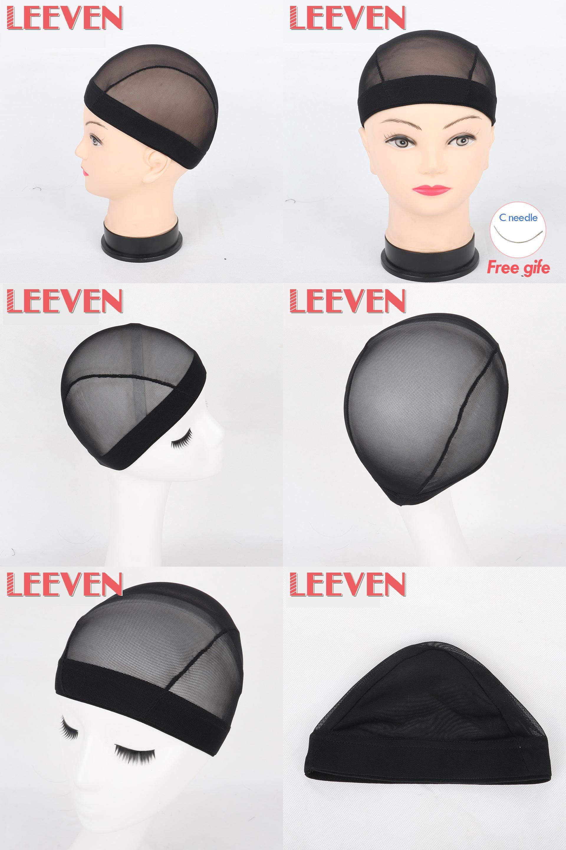 91fa6c924c5  Visit to Buy  Leeven Fashion Black Soft Hairnets 2Pcs Lot Mesh Cap For