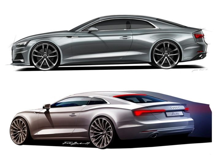 audi a5 coup design sketches automotive and. Black Bedroom Furniture Sets. Home Design Ideas