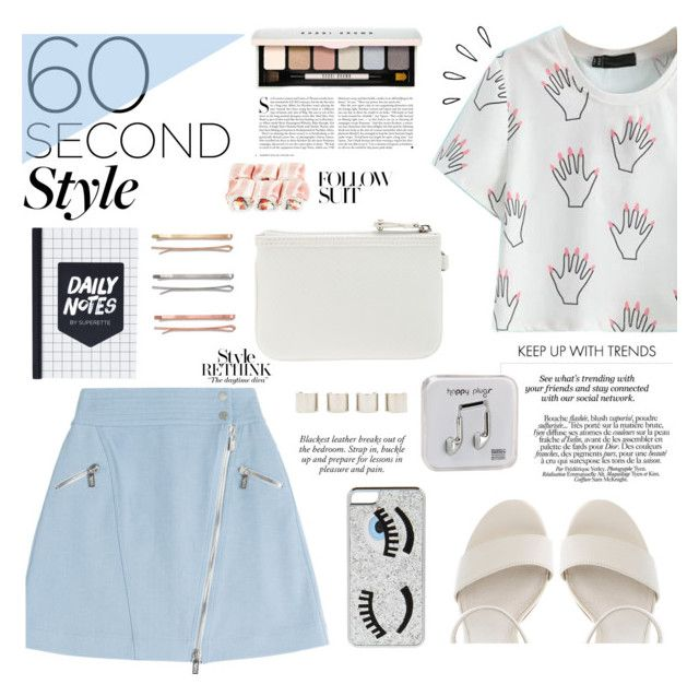 """""""60 Second Style: Graphic T-Shirts"""" by modarnist ❤ liked on Polyvore featuring Karl Lagerfeld, Steve Madden, Nine West, Chiara Ferragni, Old Navy, Bobbi Brown Cosmetics, Kershaw, Madewell, Luv Aj and Erdem"""