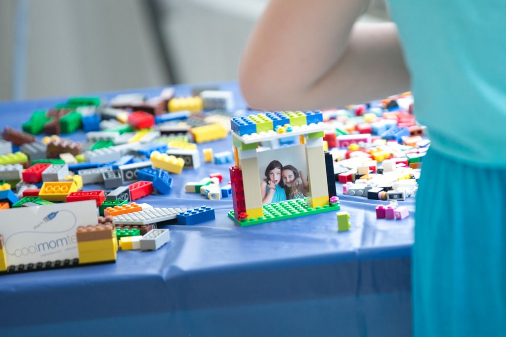 Awesome party craft idea: DIY Lego photo frames using Mini polaroids ...