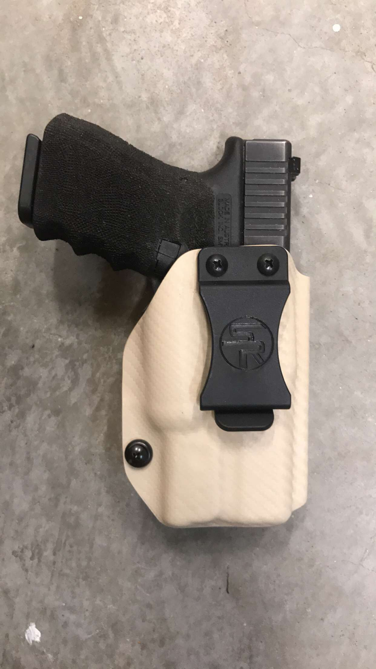 Glock 19/23 w/SureFire XC1 IWB Kydex Holster Inside the