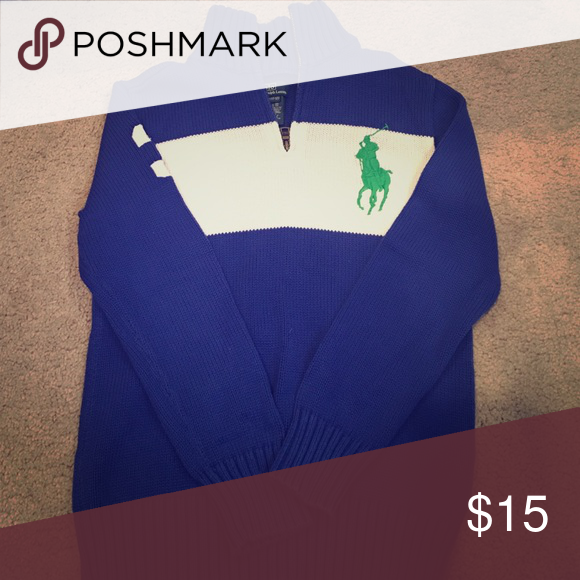Royal blue polo sweater Polo sweater (Boys) Polo by Ralph Lauren Shirts & Tops Sweaters