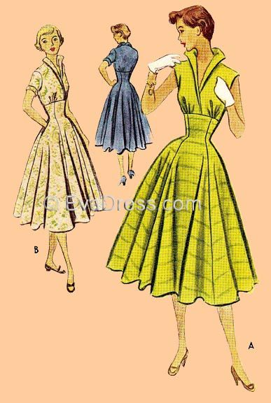 Eva Dress Patterns - vintage sewing patterns