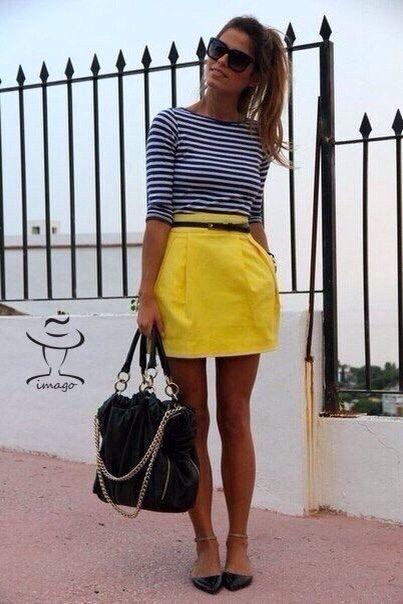 Желтая юбка и матроска