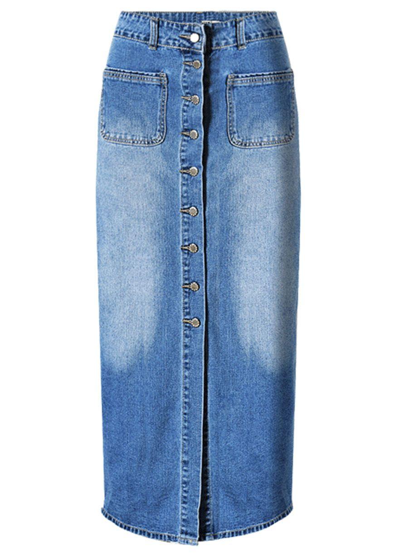 151e098324 Womens Plus Size Denim Maxi Skirt – DACC