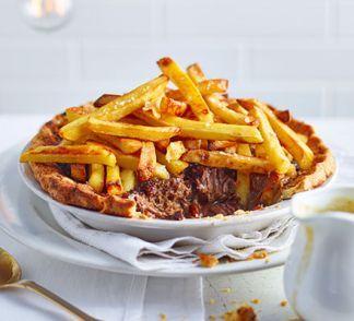Steak & chips pie | Steak and chips, Bbc good food recipes ...