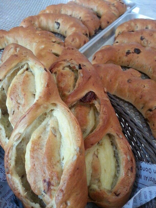 바질페스토와 크림치즈를 이용한 빵