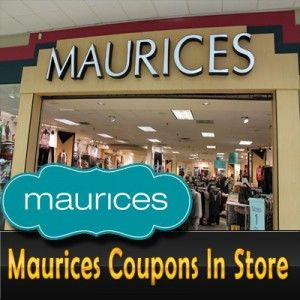 picture about Maurice Printable Coupons known as Maurices Coupon codes In just Shops Maurices Coupon Code Maurices