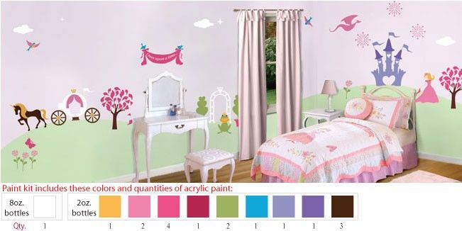 In this paint kit and youll receive just the right colors and quantities of acrylic paint to easily transform your childs room into stunning paradise for