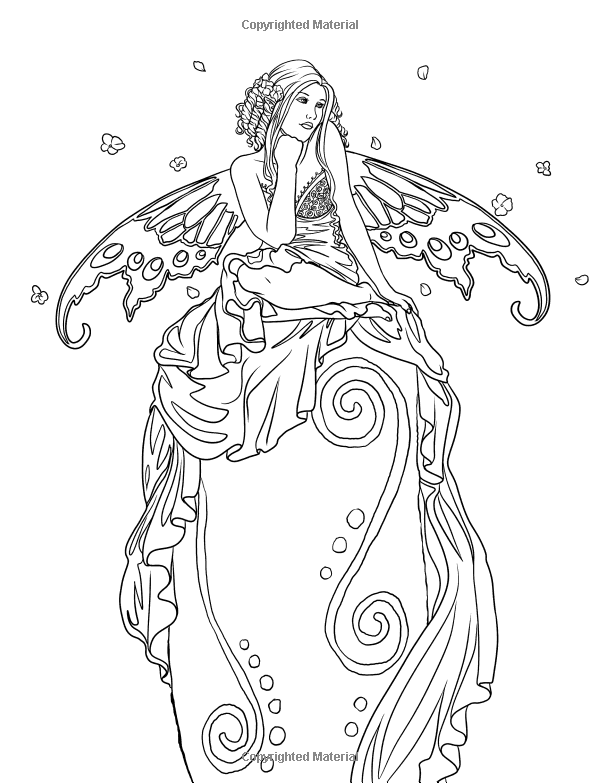 free fantasy art coloring pages - photo#20