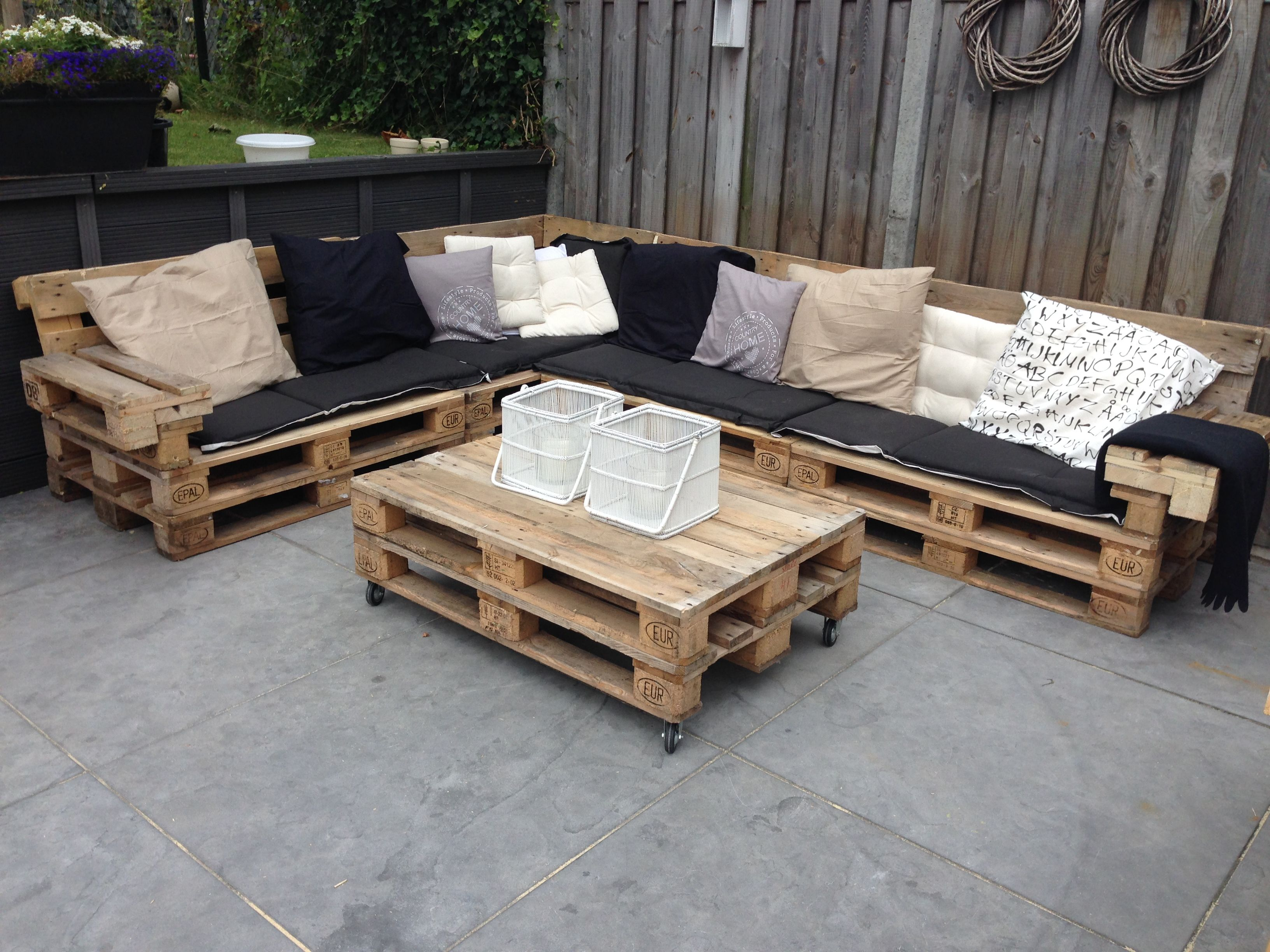 Lounge Set With Repurposed Euro Pallets 1001 Pallets Pallet