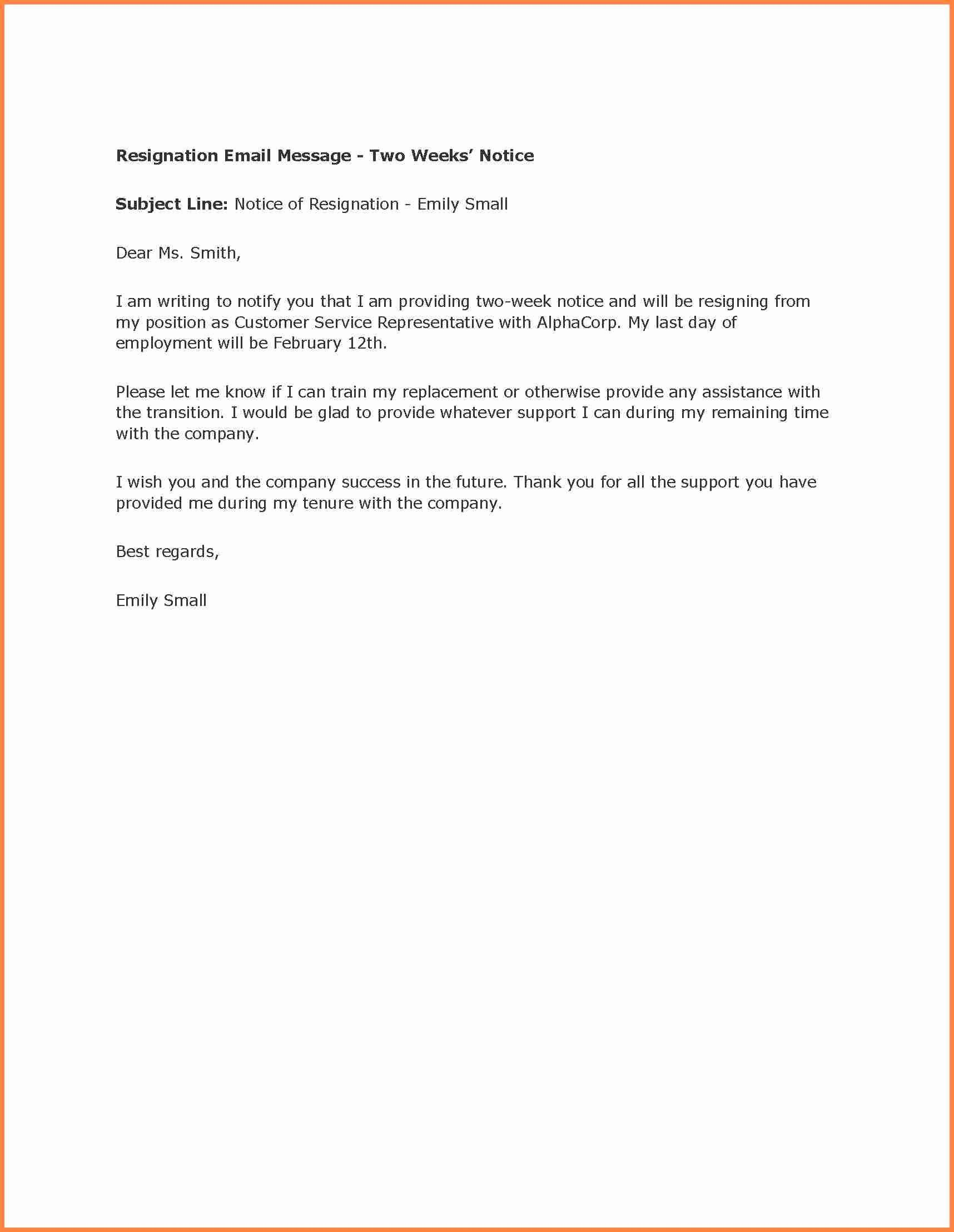 two week resignation letter awesome 3 simple cv with little experience sample email for job application resume fresher linkedin summary examples entry level
