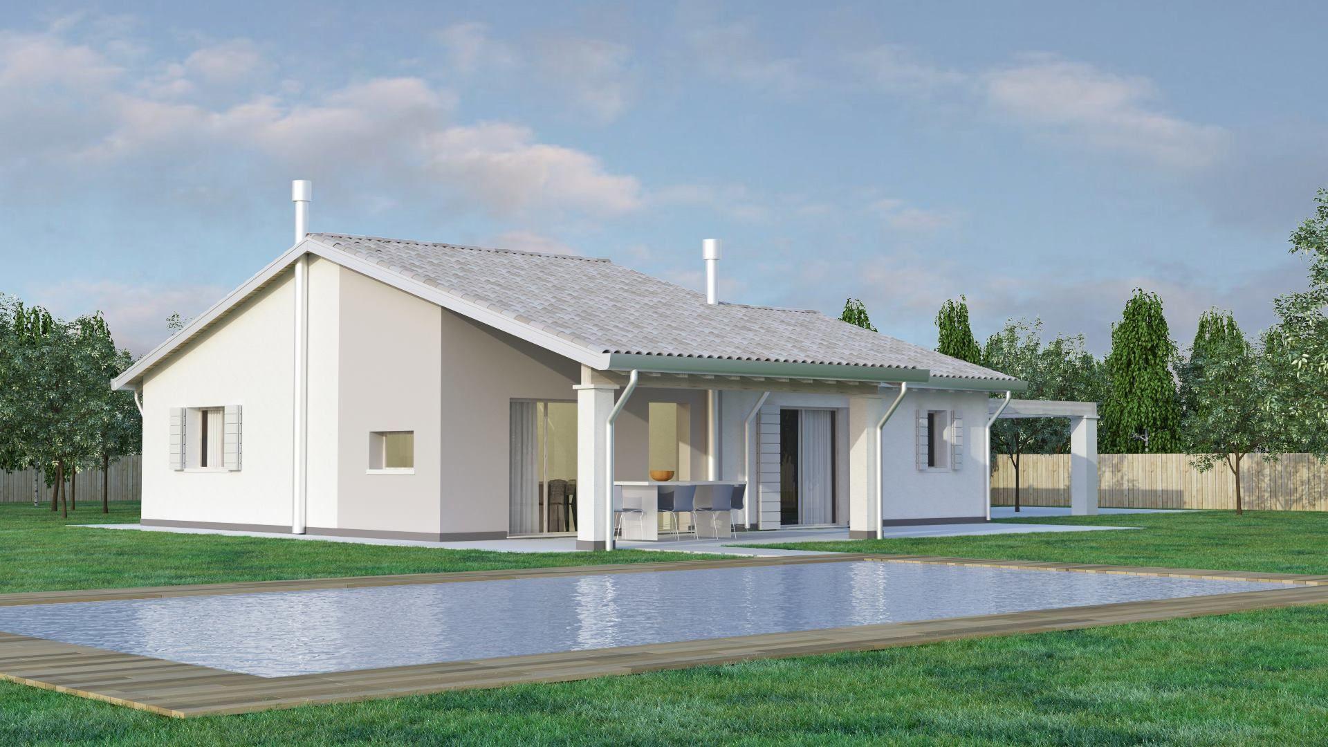 Bio house news case in legno veneto friuli venezia giulia lombardia casa unifamiliare - Costi casa in legno ...