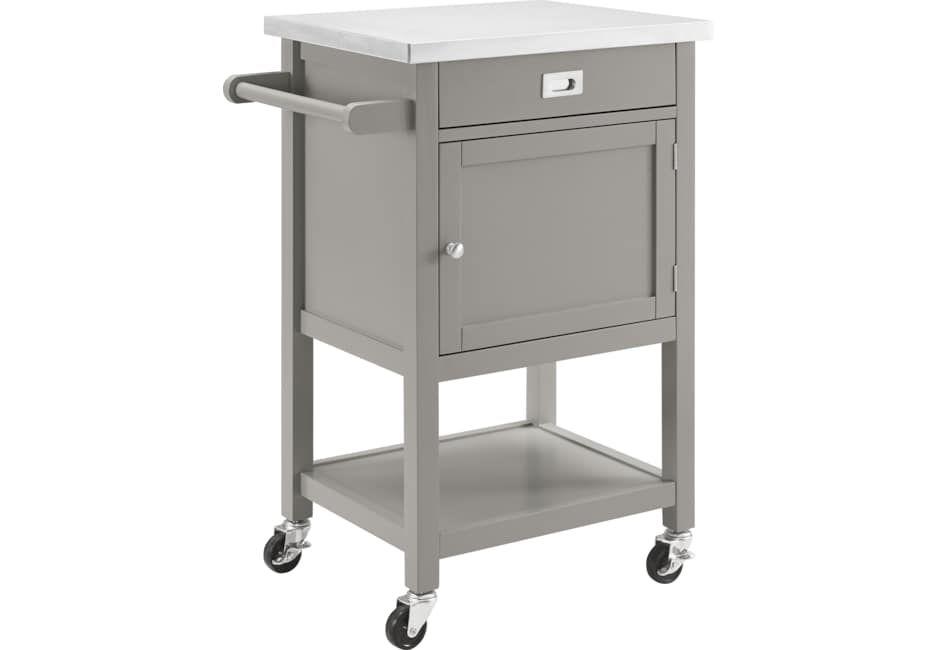 Sattler Small Gray Kitchen Cart Kitchen Cart Target Home Decor