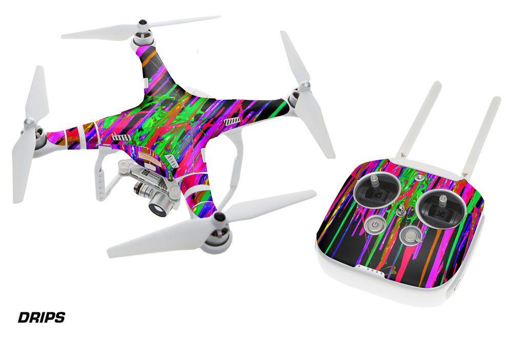 Dji phantom 3 drone wrap rc quadcopter decal sticker custom skin accessory drips