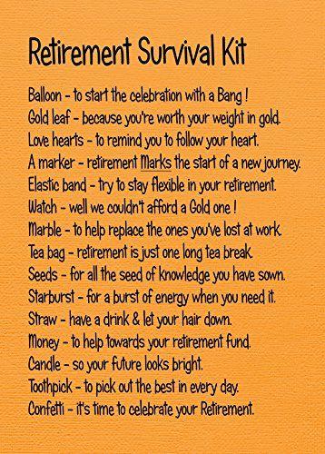 Retirement Survival Kit  Retirement Gifts