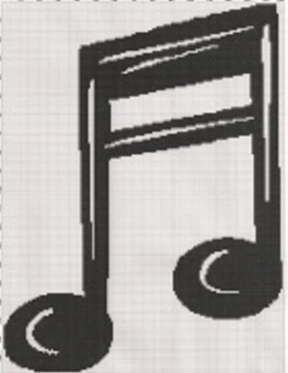 Music notes afghan graph pattern   Free crochet patterns: filet ...