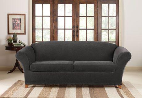 Leather Sofas Sure Fit Slipcovers Stretch Piqu Seat Individual Cushion Sofa Covers Sofa