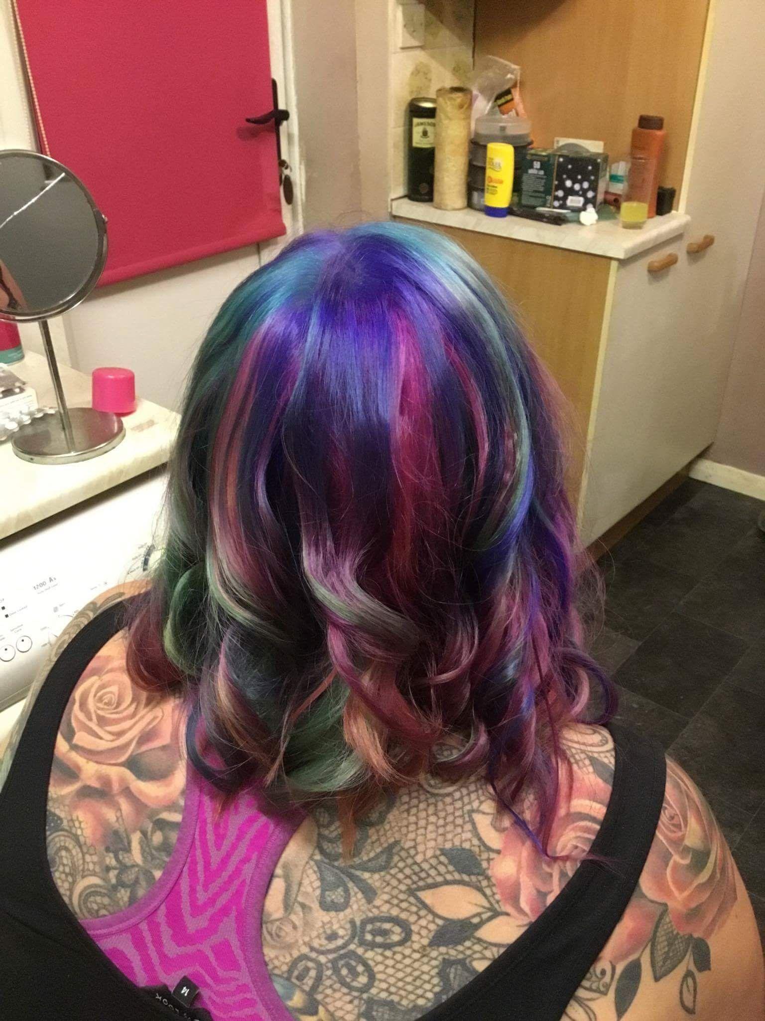 Galaxy hair what iuve done pinterest galaxy hair
