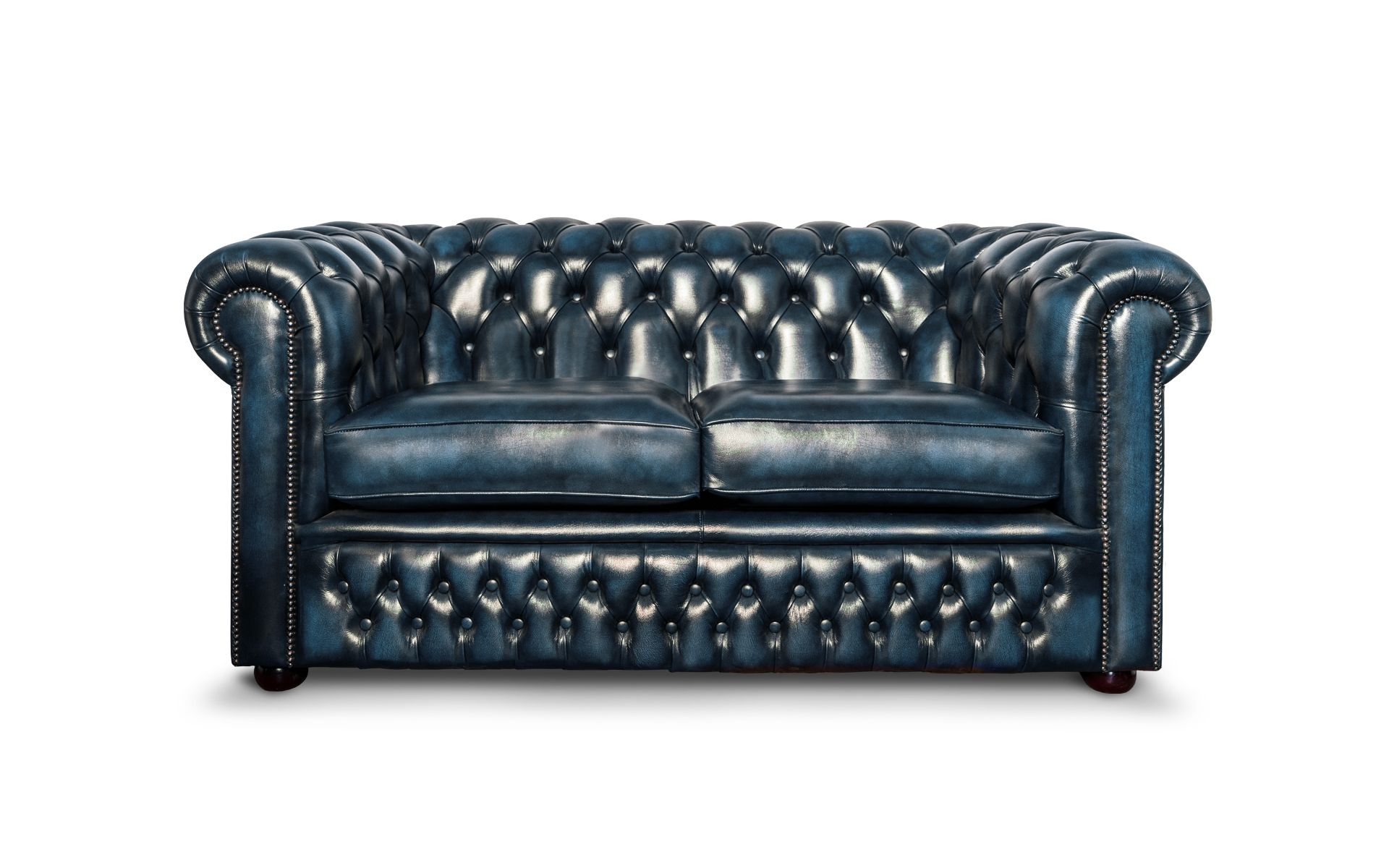 Our Antique Leather Range Shown In Dark Blue Blue Leather