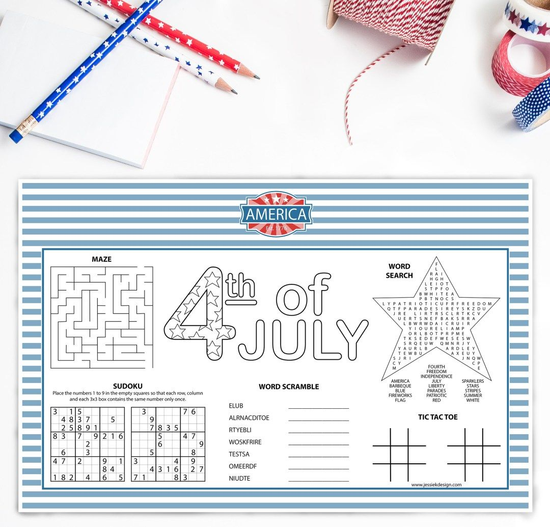 Best Free Printable 4th Of July Decorations Jessie K Design 4th Of July 4th Of July Decorations Free Printables