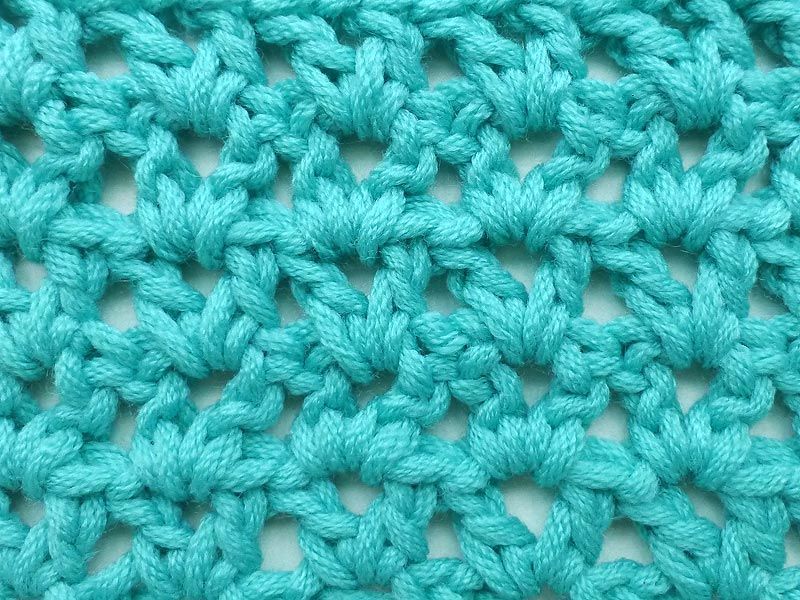 Ein mögliches Muster für den Schal. Oder auch für die Mütze? Einfach ...