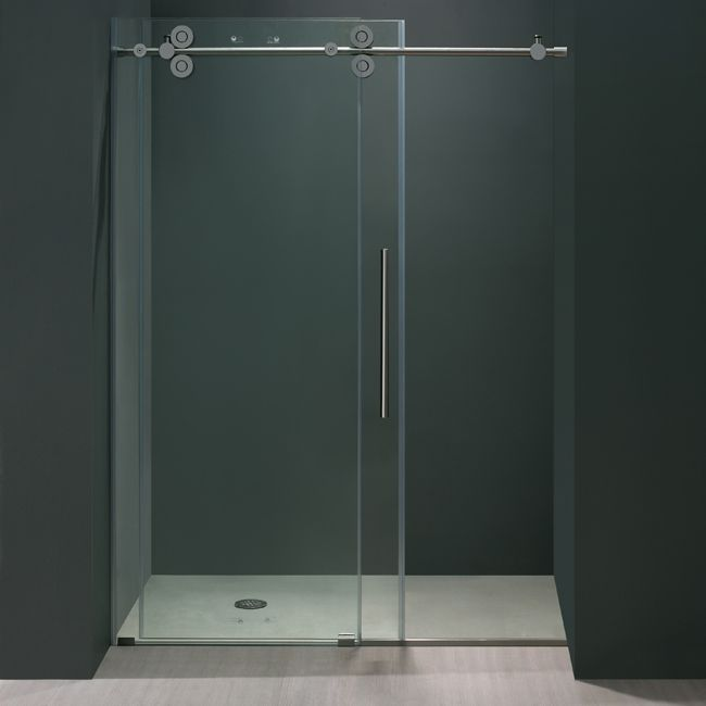 Vigo vg60414874 48 frameless shower door bathroom Sliding glass shower doors