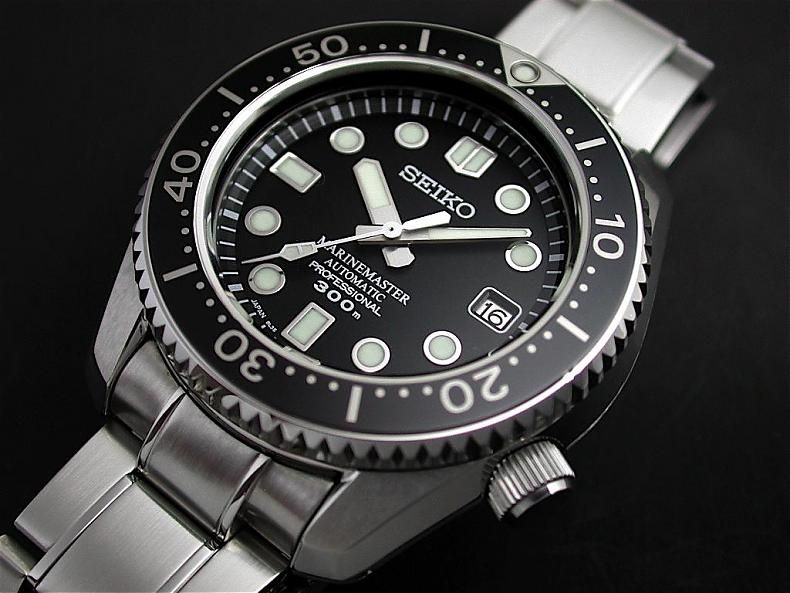 Seiko marine master professional 300m diver automatic sbdx001 watches seiko marinemaster for Celebrity seiko watch