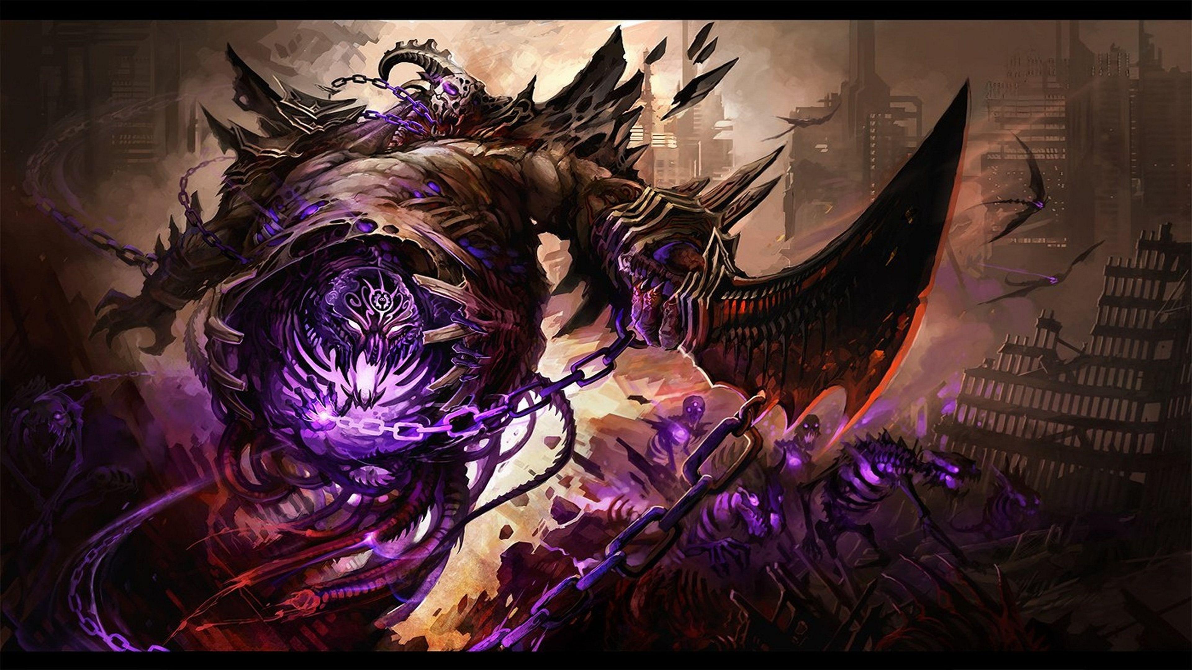 Demon Computer Wallpapers Desktop Backgrounds 3840x2160 Id 157336 Dark Fantasy Art Fantasy Illustration Cool Artwork