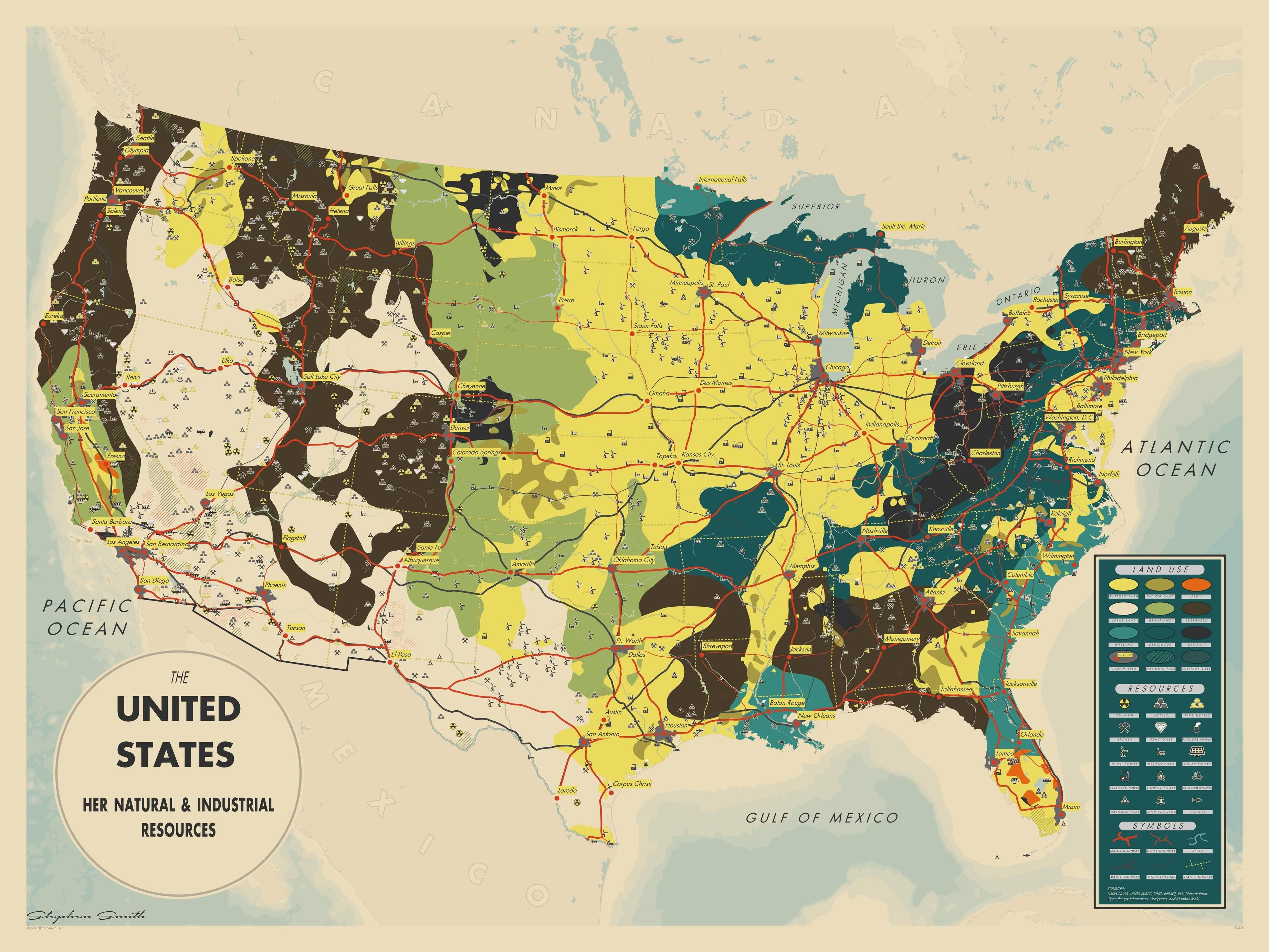 The United States Her Natural And Industrial Resources By - Where Are The Industrial On The Us Map