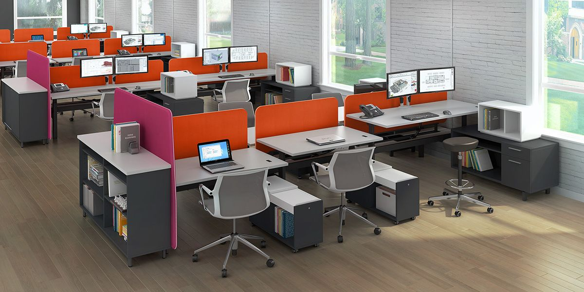 Create The Perfect Modern Workstations For Your Company S Talent With Modular Office Furniture And Adjule Height Benching Systems That Are Well Designed