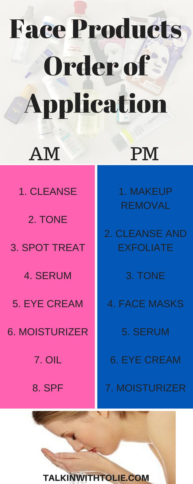 Order To Apply Face Products Order To Apply Skin Care In The Morning And At Night Http Beautifulcle Skin Care Secrets Skin Care Routine Steps Skin Care Acne