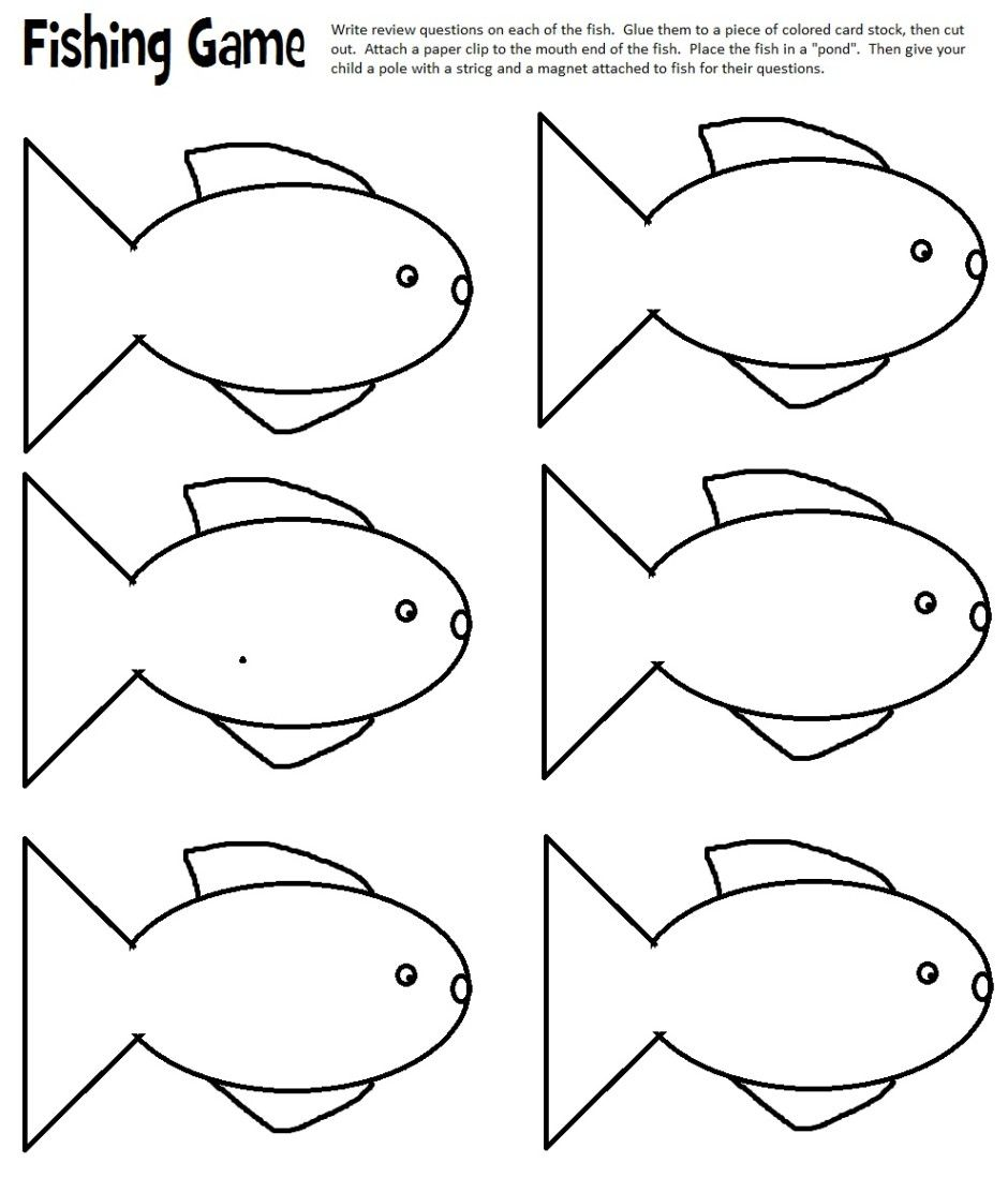Punchy image with fish cutouts free printable