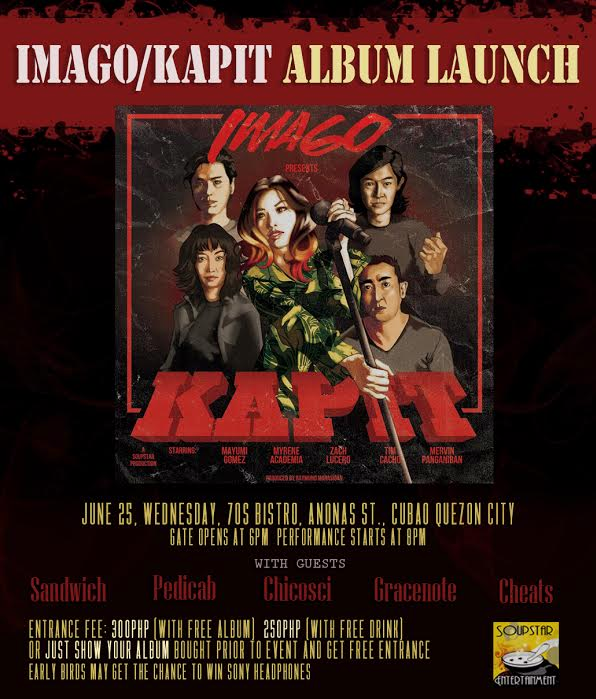 """Imago to launch new album, """"Kapit"""" on June 25 at 70S"""