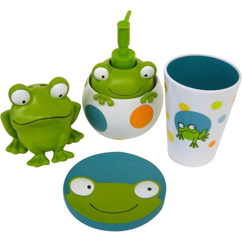Walmart Bathroom Accessories Sets.Peeking Frogs 4pc Bath Accessory Set Walmart Com Kids