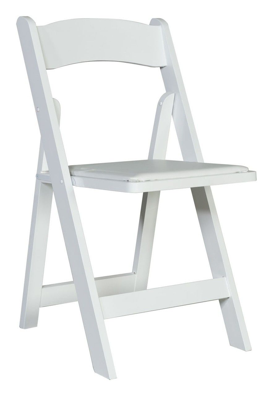 Premier White Wedding And Event Wooden Folding Chairs With Vinyl