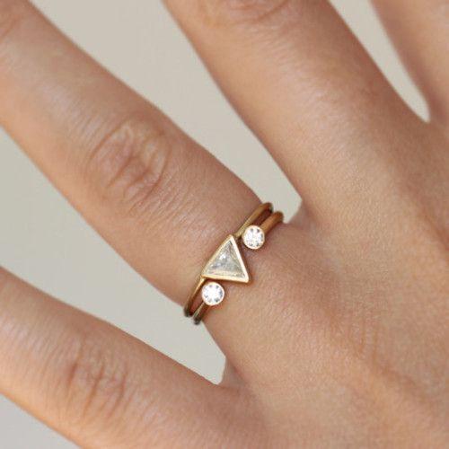 Blue Gypsy Triangle Modern Ring Box Bree