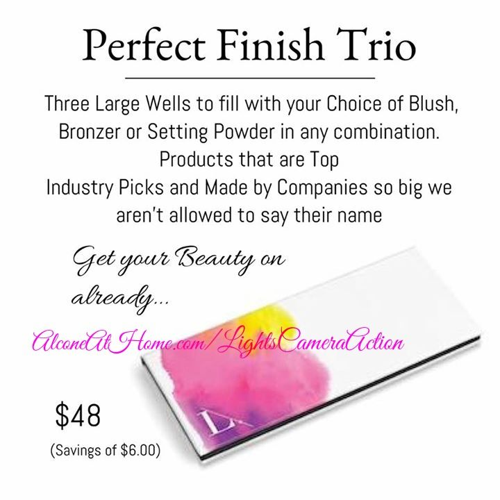 Choose any combination of our Blushes, Perfect #PressedPowder or #Bronzer to fill the 3 wells in our Custom Collection Blush/Powder Trio Palette!  #LightsCameraAction #LimeLightByAlcone #WhatTheProsUse #ProTip #NoFilterMakeUp #NonToxic #Cosmetics  #BeautyGuide #NaturalSkinCare #MakeUp #MUA #MakeupArtist #MakeupJunkie #HighEnd #ProMakeUp #TheMakeUpShow #MUS2015 #RCMA #ilMakiage #Kryolan #WomenOwnedBusinesses