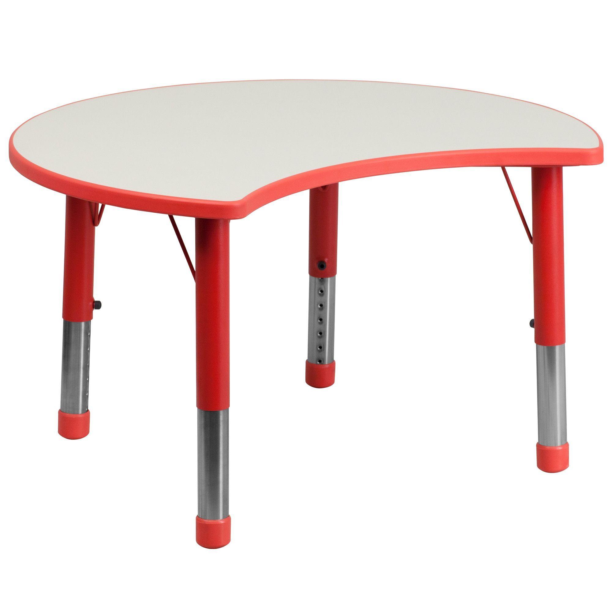 "35 5"" x 25 13"" Kidney Classroom Table tk"