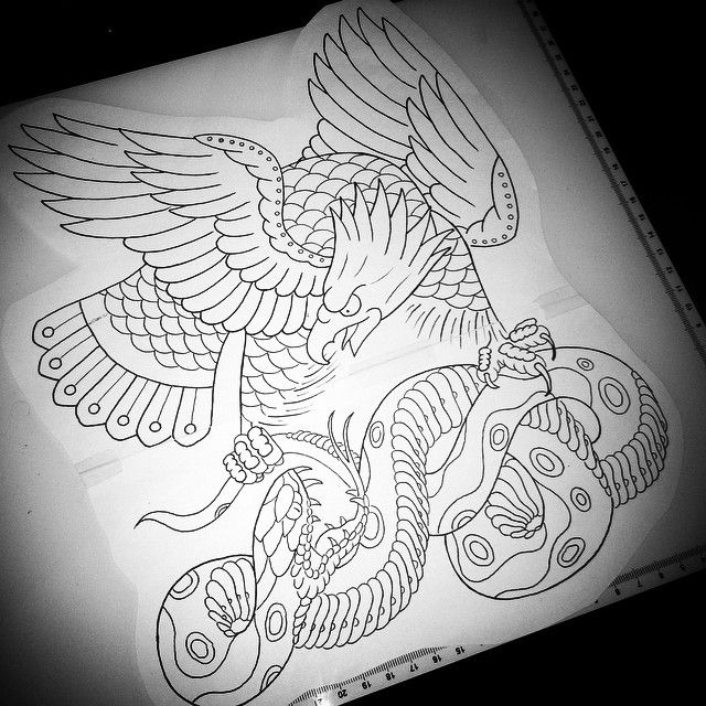 Eagle And Snake Google Search Traditional Style Tattoo Tattoo