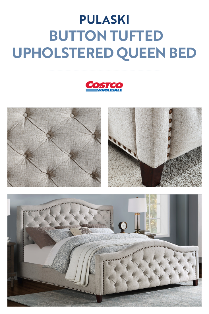 The Pulaski Button Tufted Upholstered Bed Is A Timeless Piece That Combines Style And Scale Tufted Upholstered Bed Queen Upholstered Bed Upholstered Beds