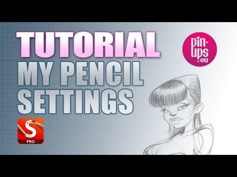Autodesk Sketchbook Pro Tutorial : PENCIL SETTINGS - YouTube
