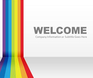 free rainbow powerpoint template with light background color is a