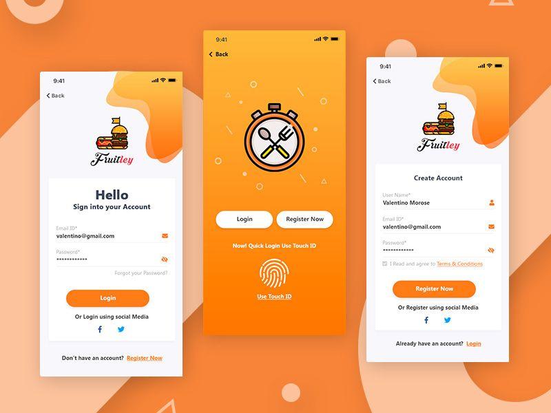 Restaurant Registration Form Mobile App Design Inspiration App Interface Design Android Design