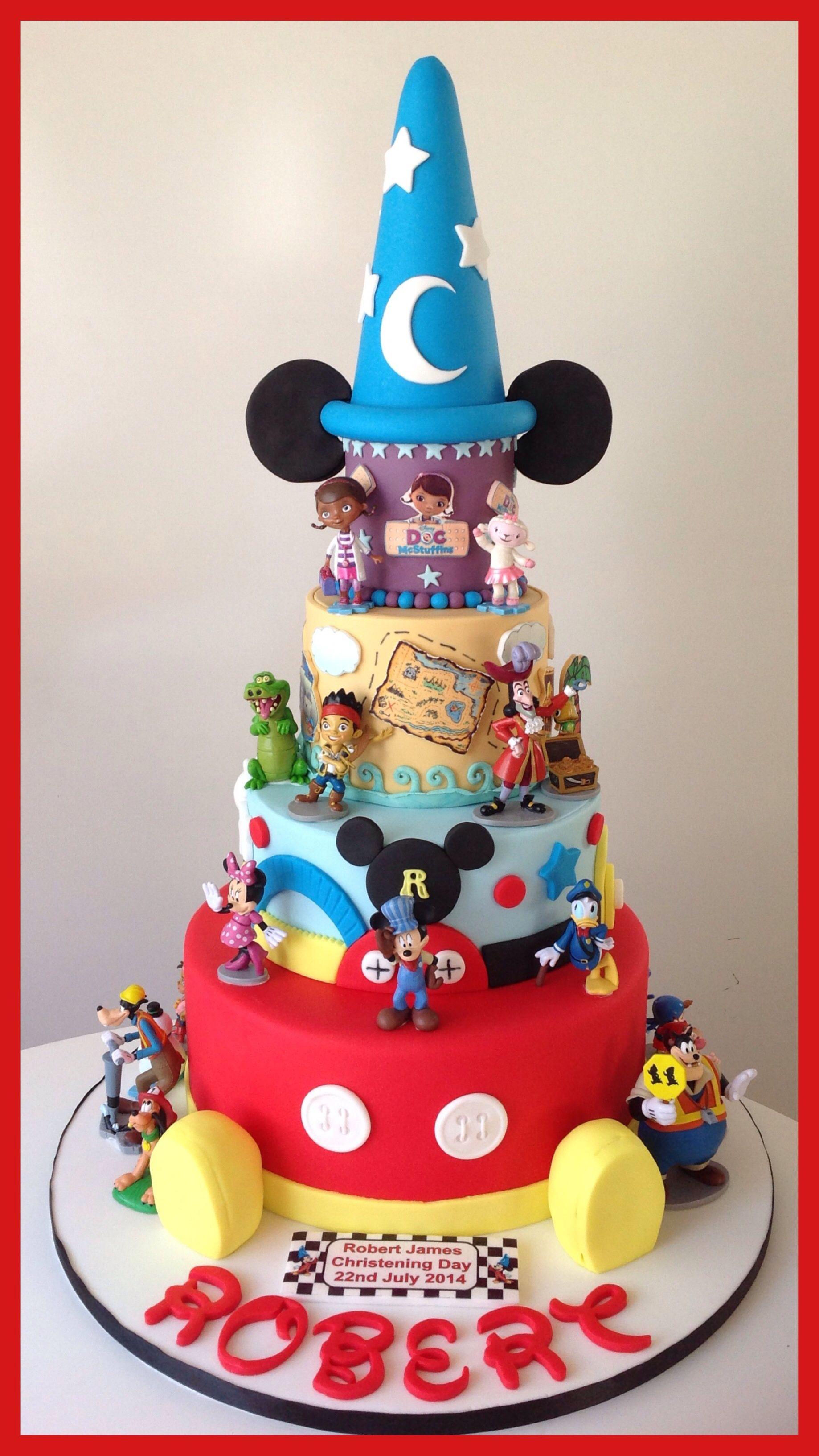 My Grandson's Disney Christening Cake Christening cake